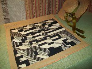 superbe tapisserie ancienne art deco main. Black Bedroom Furniture Sets. Home Design Ideas