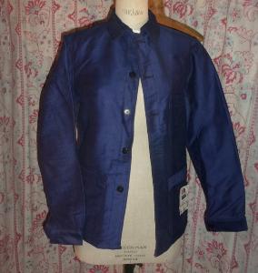 veste de travail ancienne ou vintage bleu de travail le. Black Bedroom Furniture Sets. Home Design Ideas