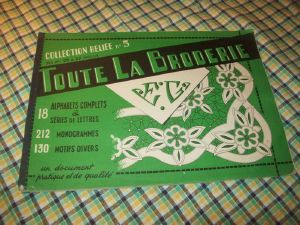 TOUTE LA BRODERIE . COLLECTION RELIEE N°5. 1959