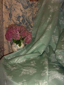 jolie toile a matelas ancienne metis fleur bleue m tis. Black Bedroom Furniture Sets. Home Design Ideas