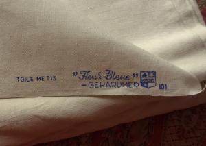 xxxxx grand drap ancien metis fleur bleue gerardmer jours venise main. Black Bedroom Furniture Sets. Home Design Ideas