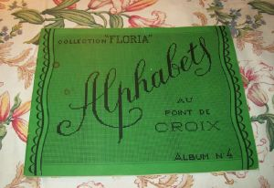 GRAND ALBUM ANCIEN ALPHABETS POINT DE CROIX